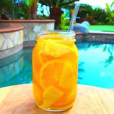 Pineapple-Orange  1/2 an orange (sliced) 1/2 a cup of cubed pineapple