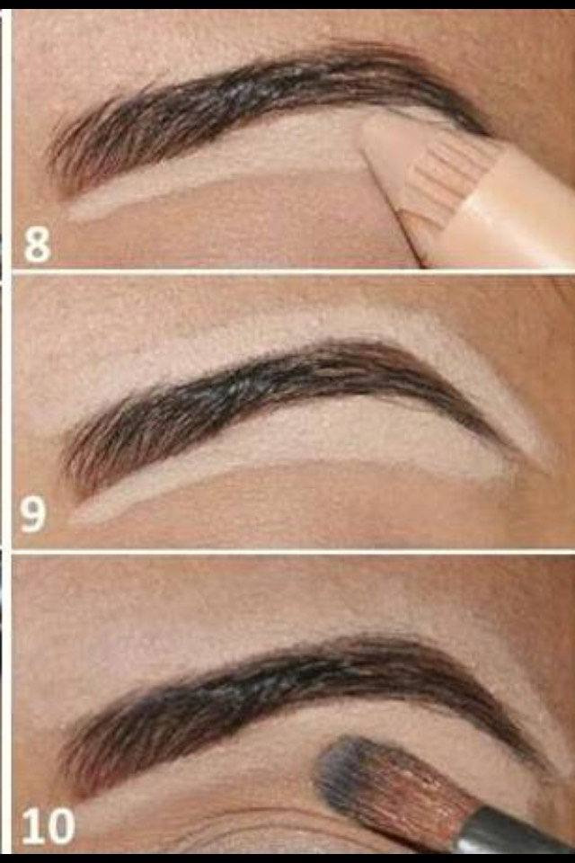 Then I conceal round my brows to make them more defined and lifted after that step I brush the concealer in💁