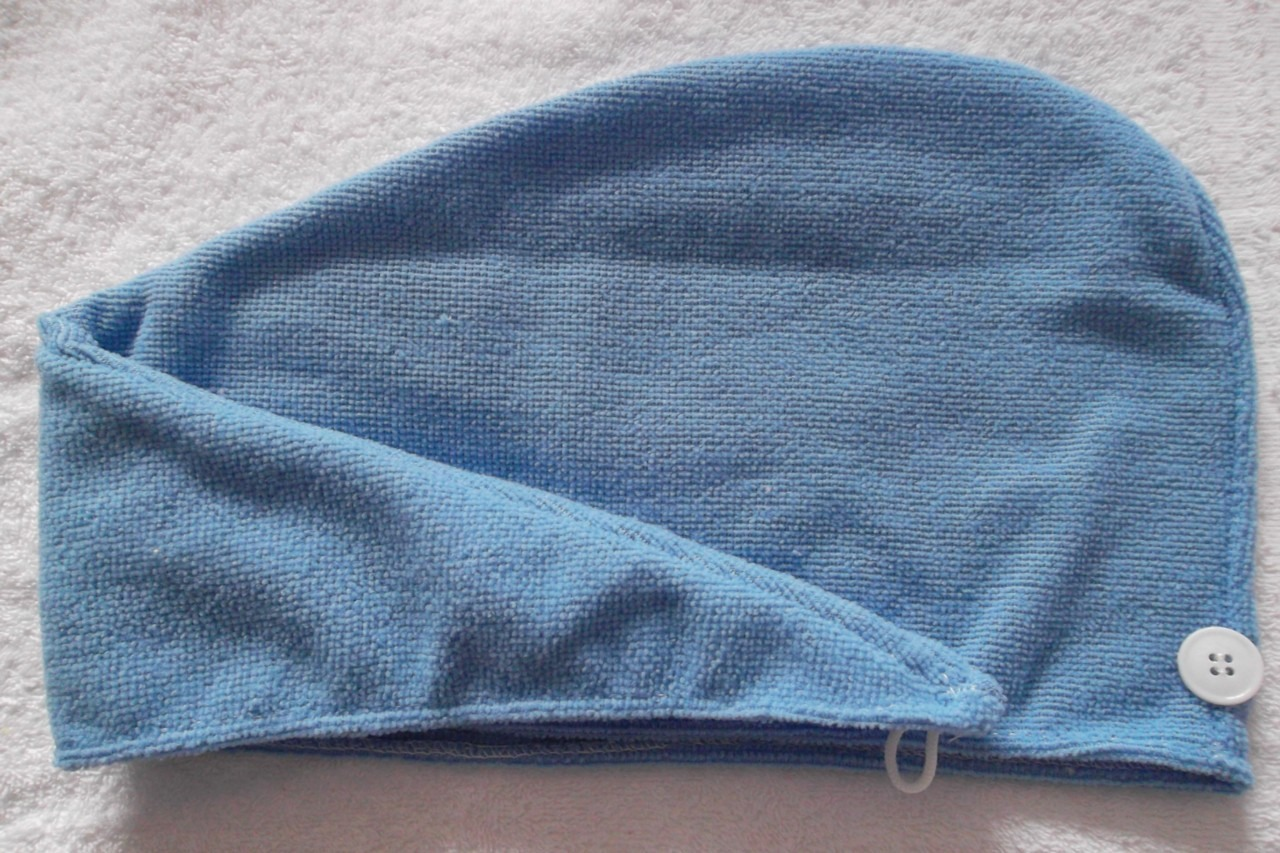 Then get a Turbin Twist Towel. I got mine at Walmart. Damp it and put it in the microwave for 20 seconds, long enough to be warm. Then wrap it around your head. Then take a shower cap and put it over the towel. Leave it on your head for about 5-6 hours. Then wash it out. I do this about once a week.