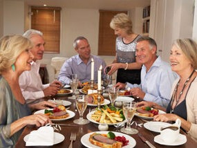 10. Limit The Dinner Guests Eating with 7 or more guests can make you eat 96% more. Dine with fewer guests to save yourself 600 or more calories.