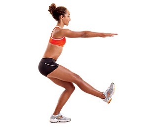 One-leg squats (50)