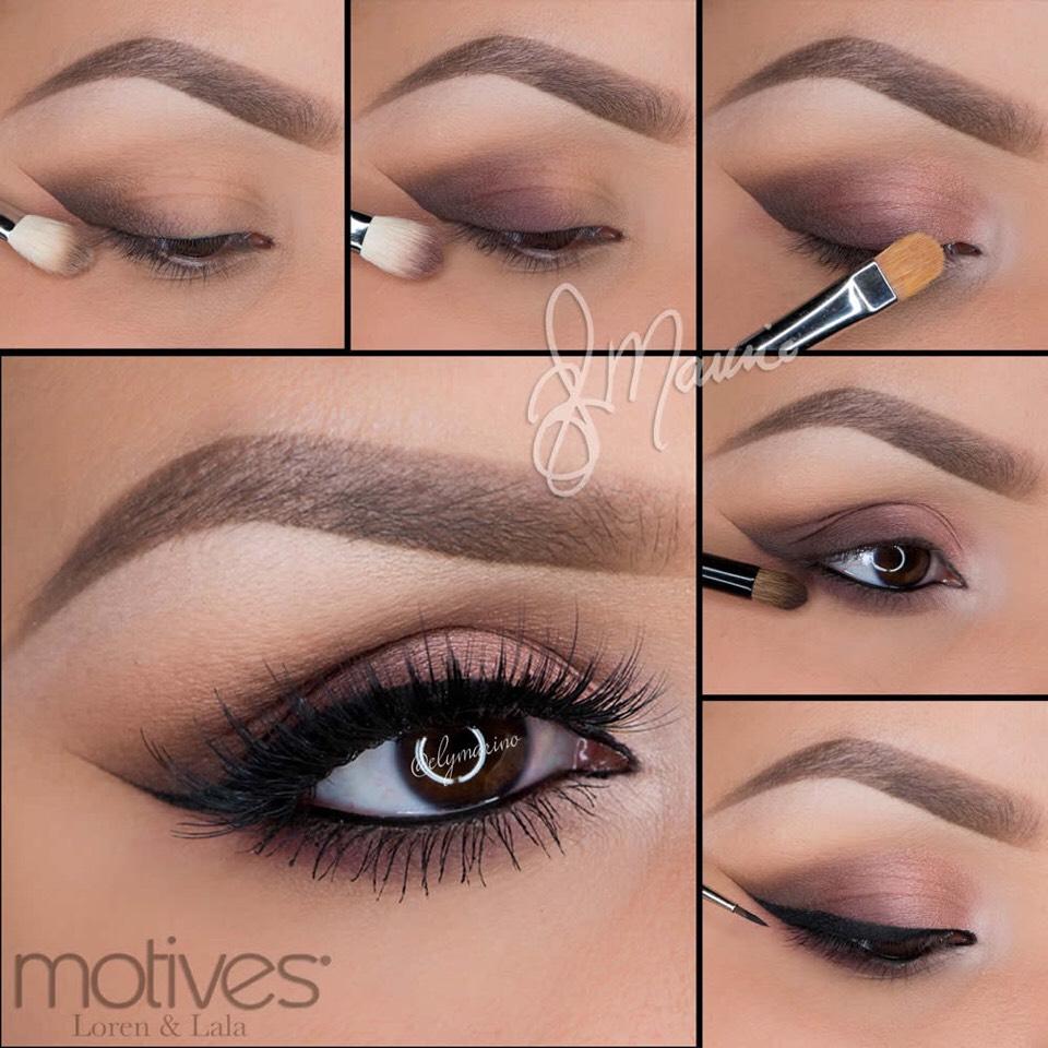Подробный пошаговый урок красивого макияжа для глаз