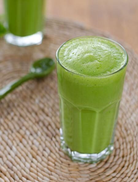 19. Three-Ingredient Green Smoothie  http://cookeatpaleo.com/3-ingredient-green-smoothie/
