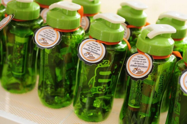 Give kids a water bottle for school and pack the inside with treats as well