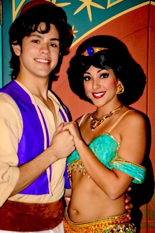 Aladdin & Jasmine Found near the Magic Carpets in Adventureland.