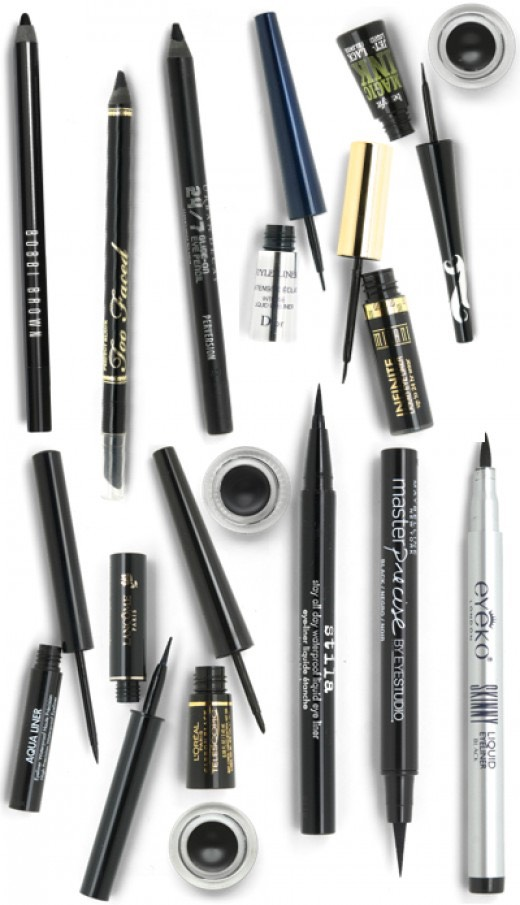 if you want a wing I think you should go with either liquid/gel because they give the best preside lines for the water & lash line use a twist up or really creamy pencil