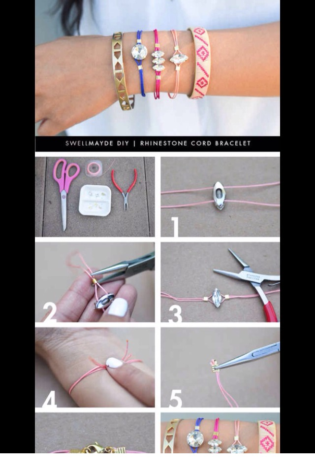 Easy way to make cute bracelets