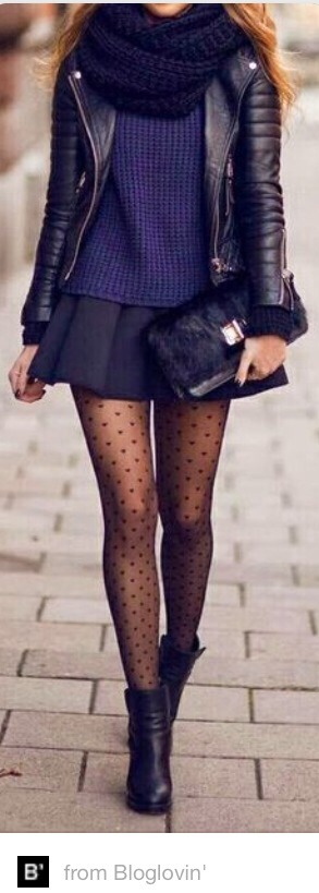 (Patterned tights are one of my favourite clothes! Plus the rest of the look is double the beauty!) (Pattern Tights from Bloglovin !)