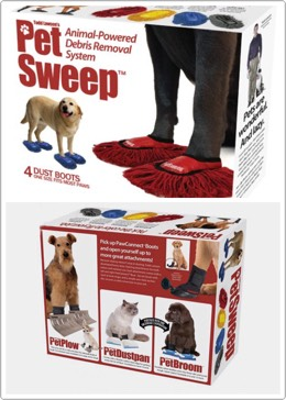 39.Pet Sweep ThePet Sweep assignsyour pets an important job, to clean the house and spend some energy figuring out how to walk in these mop sandals. $8.00