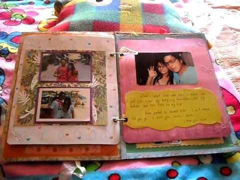 My favourite thing about making a scrap book is all the memories you can put into it, especially for your partner. Train tickets, photographs, wristbands just anything that when your older you can look back on as a couple and think about all the good times you have had and will have. 🎀