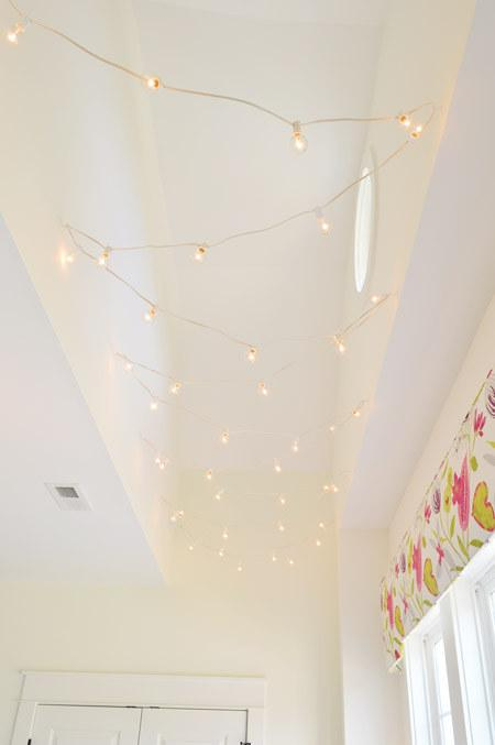 15. You can also zig-zag them down a hallway that needs just a little more overhead light.
