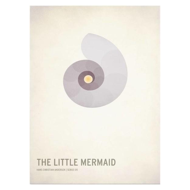 A poster for minimalist mermaids.