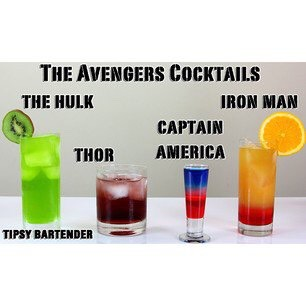 Avengers cocktails