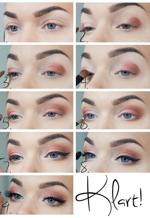 Eye makeup! Quick, easy! 😊