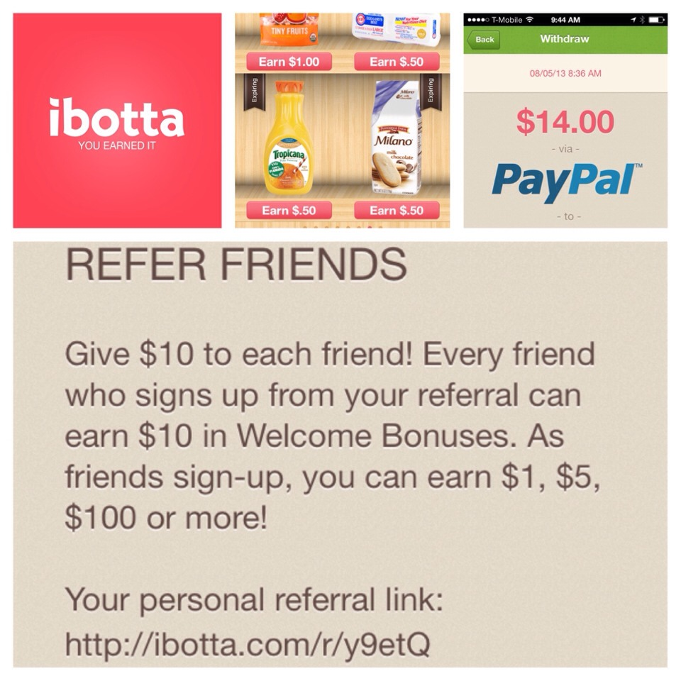 Use this link to earn $10!!! http://ibotta.com/r/y9etQ Must sign up through the link, then download the app and open to redeem your free giftcards! No purchase necessary!