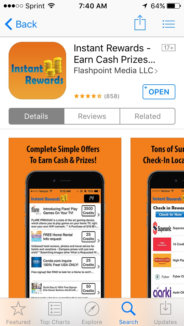 This app is amazing! I love Instant Rewards. Get paid just to do simple tasks! Downloadtoday!