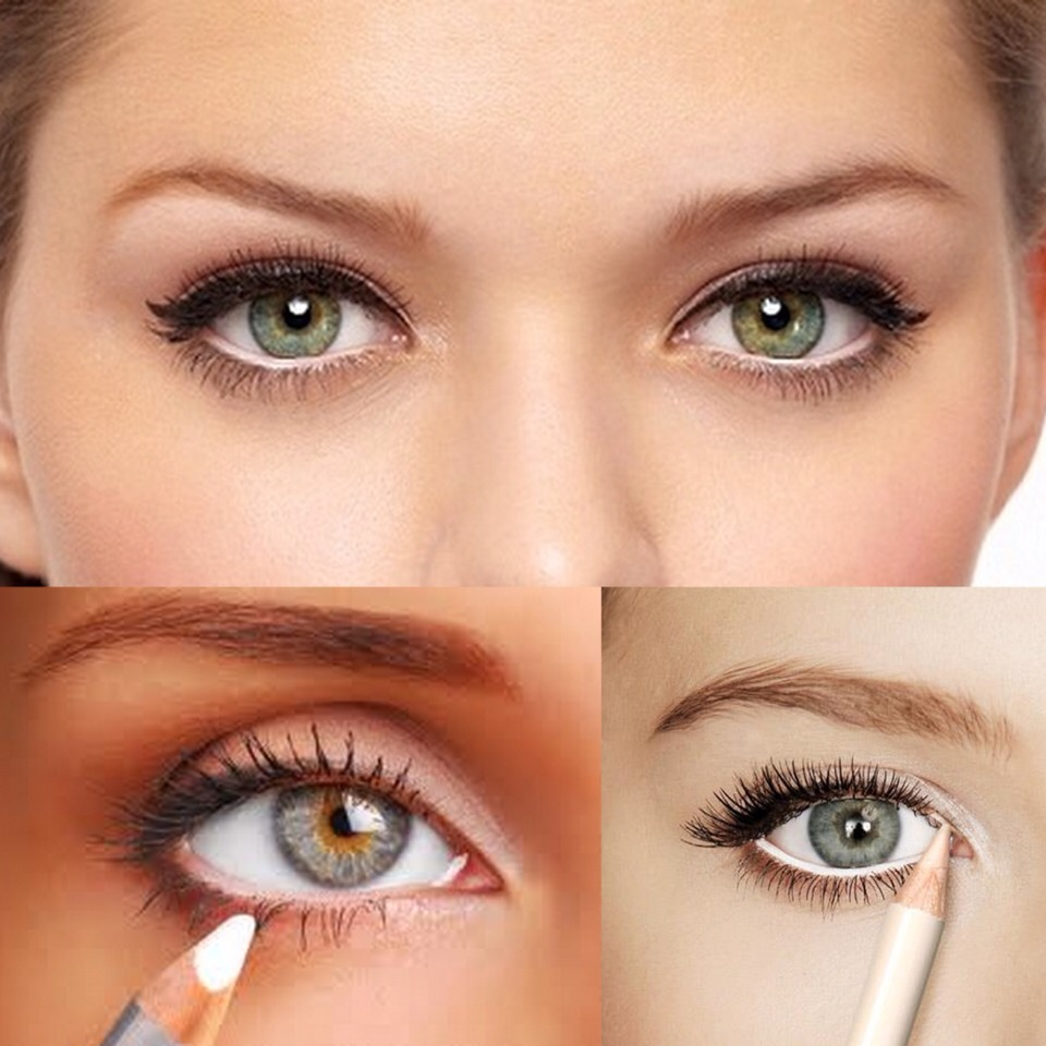 Simply line your water line with white eyeliner. This will give you the optical illusion that your eyes will look bigger!