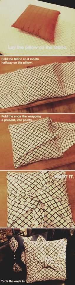 Make a super cool cushion with these simple steps!