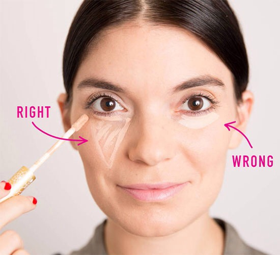 1. You've probably been applying concealer wrong your entire life