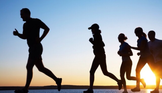 Running in groups will bring out the competitive side and make you want to keep up there fore running faster for longer than you would alone