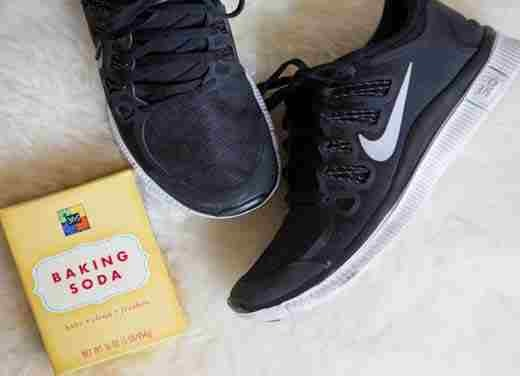 14. Pour a little bit of baking soda in your sneakers after a workout to soak up the sweat and eliminate odor.