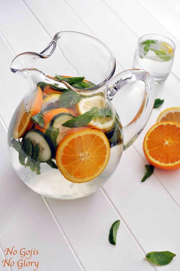 Orange lemon mint cucumber