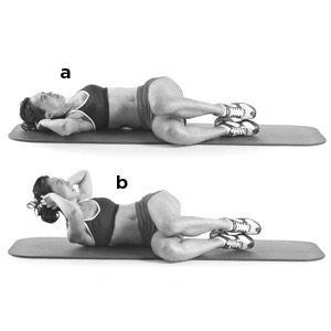 15 side crunches (each side)
