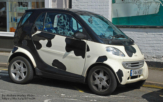Who wouldn't want a Cow Car!