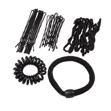 Have an assortment of hair bubbles/bands and Bobby pins.