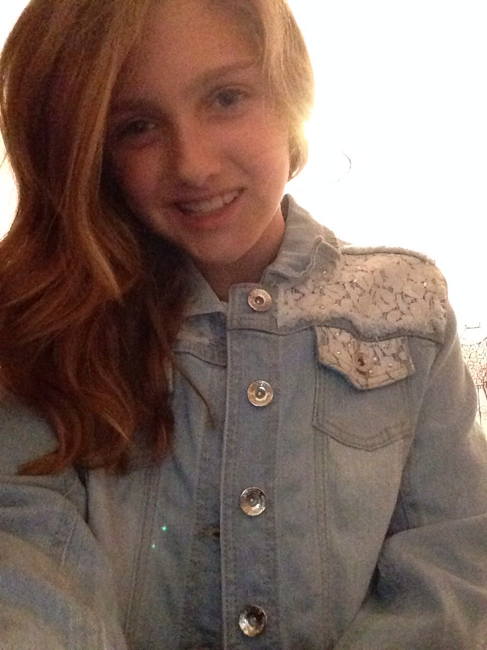 A cute Jean Lacy jacket from justice