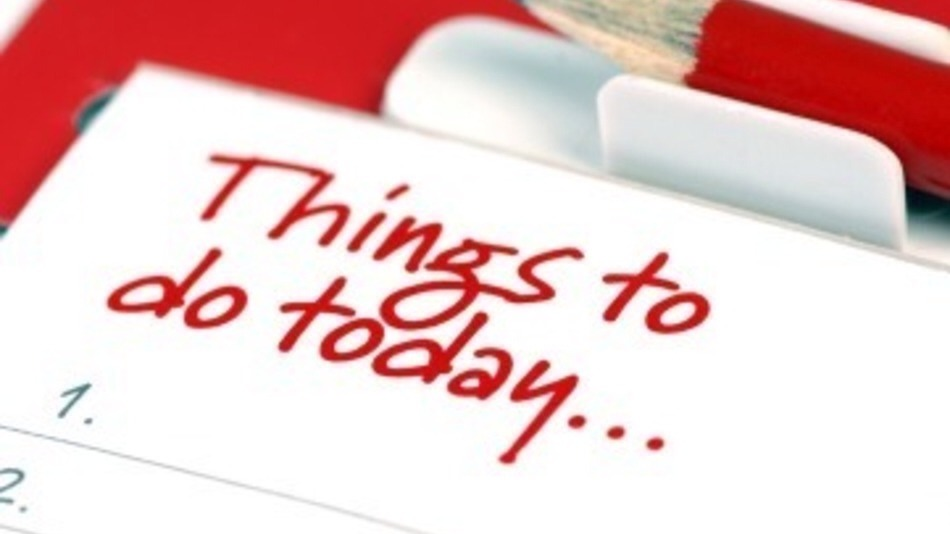 Write a to do list every morning when you wake up.
