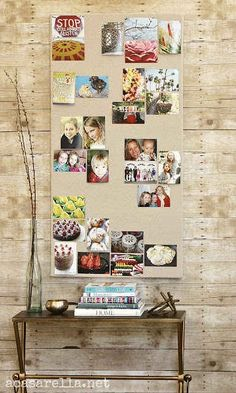 Create a linen-covered pinboard.