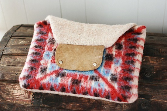 The first step is deciding which sweater to repurpose. You might find that you actually have a couple of spares lying about. In that case feel free to make a few DIY sweater laptop cases. If you borrowed a sewing machine perhaps make one for your friend.