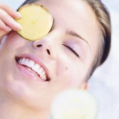 Instead of making Cajun fries with potatoes, you can shred potatoes for eye bags. When you shred potatoes and put the shreds in a cloth then put them over your eyes for as long as you like, you can get rid of dark circles. Or you can just put slices over your eye ... And Say good bye to puffiness.