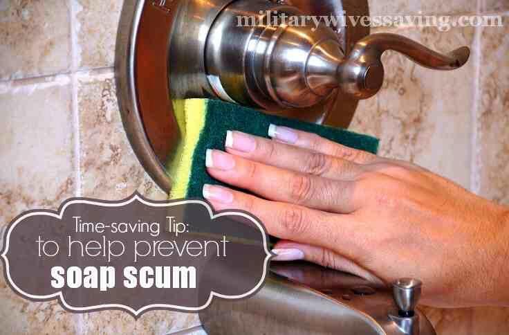 Prevent Soap Scum Buildup