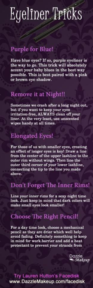 15. Read these tips to really make your eyes pop using eyeliner.