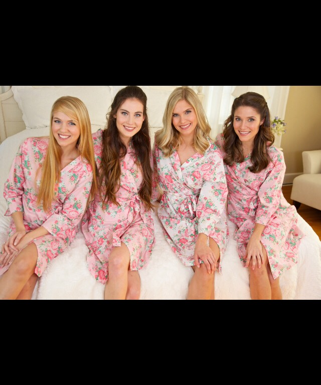 Robes for bridal party to get ready in