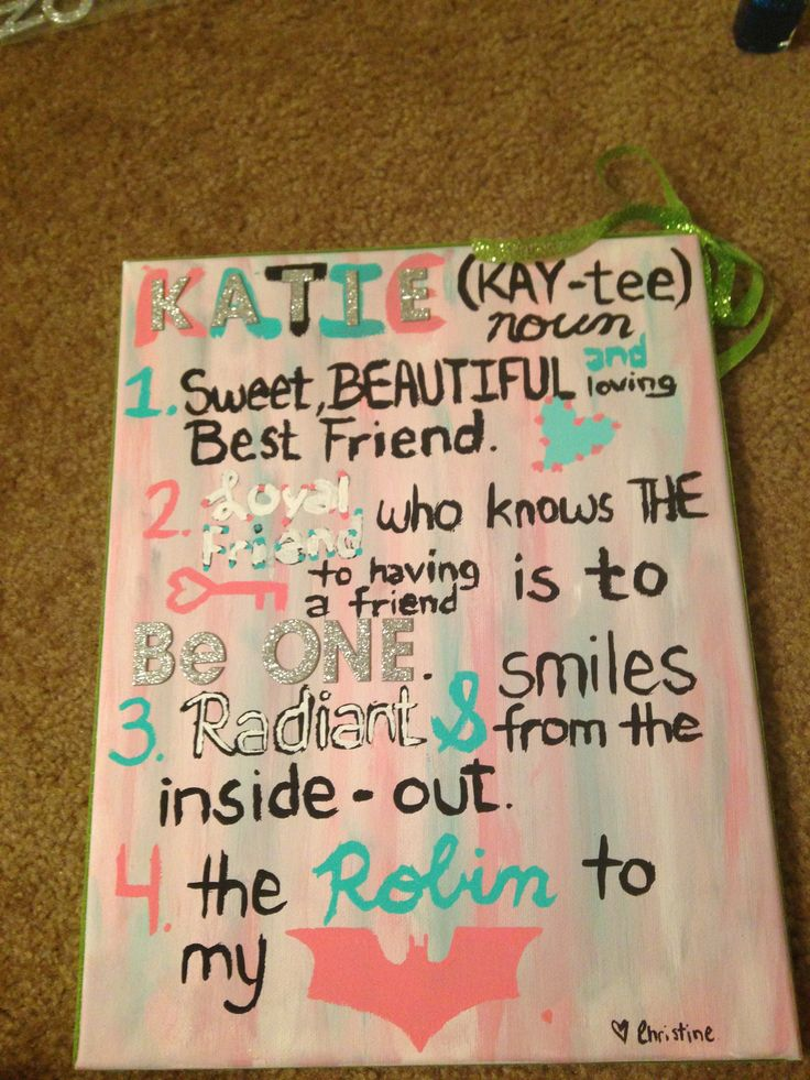 Cute Gifts To Give A Friend By Elizabeth Gonzalez