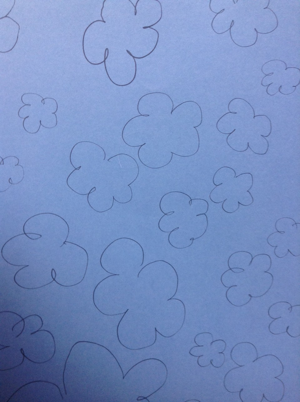 Draw some clouds and then cut them out