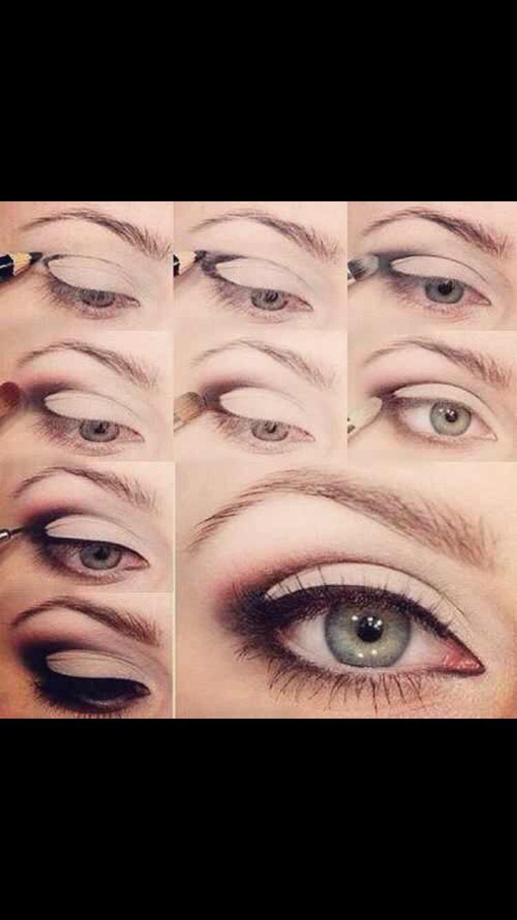 Cute crease eyeliner look
