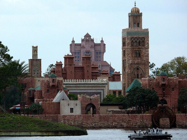 When building the Tower of Terror, the imagineers knew it would be visible from parts of Epcot. To solve the problem, they designed it to blend in with the Morocco pavilion.