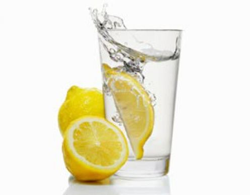 Dink a glass of warm water with juice squeezed from 1/2 of a lemon.