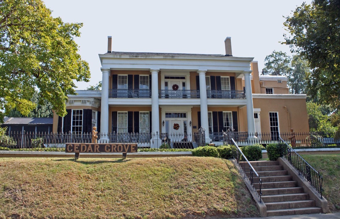 24.) Cedar Grove Mansion, Mississippi Completed in 1852, the mansion was used as a hospital during the civil war to house soldiers from the nearby Battle of Vicksberg. Various manifestations from the house original family have been reported, such as tobacco smoke apparitions, laughter, and footsteps