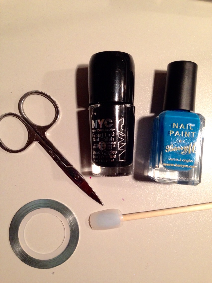 All the things you need (also need a clear top coat which is not shown in the picture)