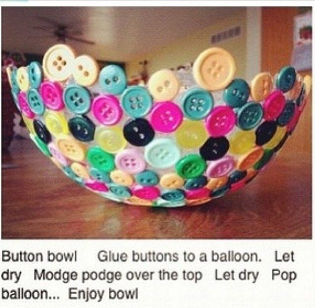 DIY Button Bowl by Jess Sedgmen - Musely