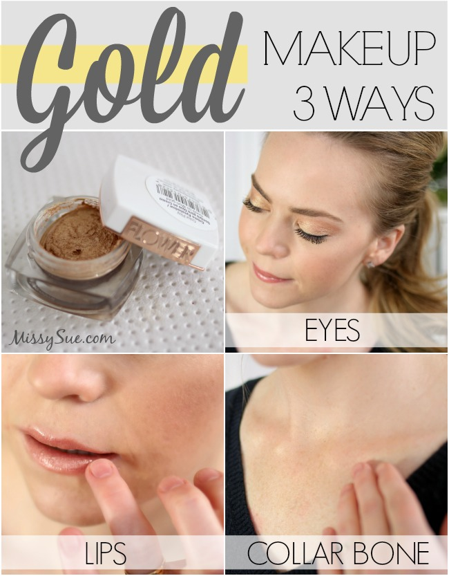 Gold Makeup 3 Ways will show you fun, new ways to wear gold this Summer.