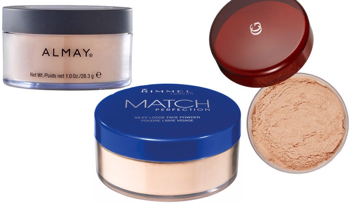 PICTURED|  1.Almay Smart Shade Loose Powder 2.Rimmel London Match Perfection Loose Powder 3.COVERGIRL Professional Loose Powder