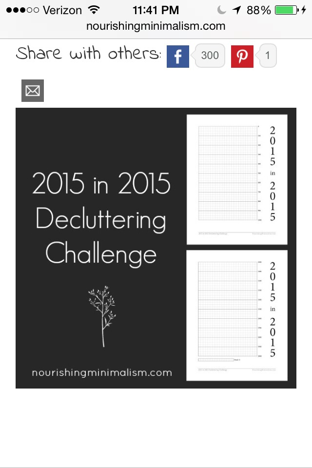 Print chart out here.  http://nourishingminimalism.com/2015-in-2015-decluttering-challenge