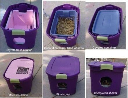 7. Got feral cats in the backyard? Keep 'em warm this winter. Check out the tutorial here. http://www.isfoundation.com/news/creatures/diy-give-gift-warmth-feral-cats-winter