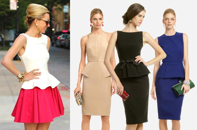 Peplum is all the rage this season for a reason. The flared hemline is very slimming.